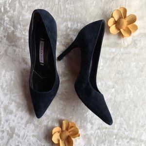 Charles David Navy Blue Heels | Size 5.5